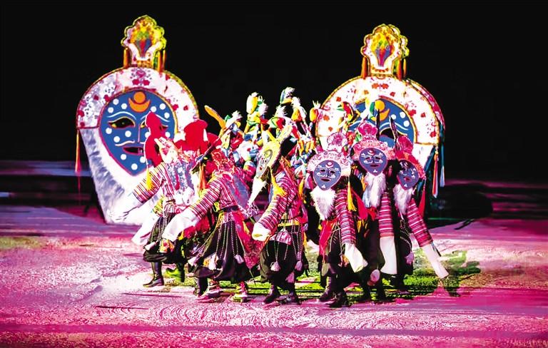 暮色渐晚 《文成公主》藏文化大型史诗剧演出开启大幕