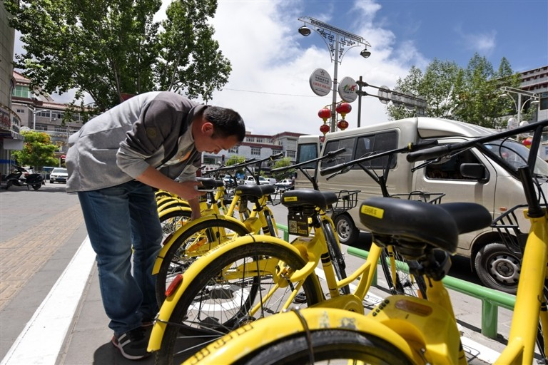 共享单车助拉萨市民绿色便捷出行